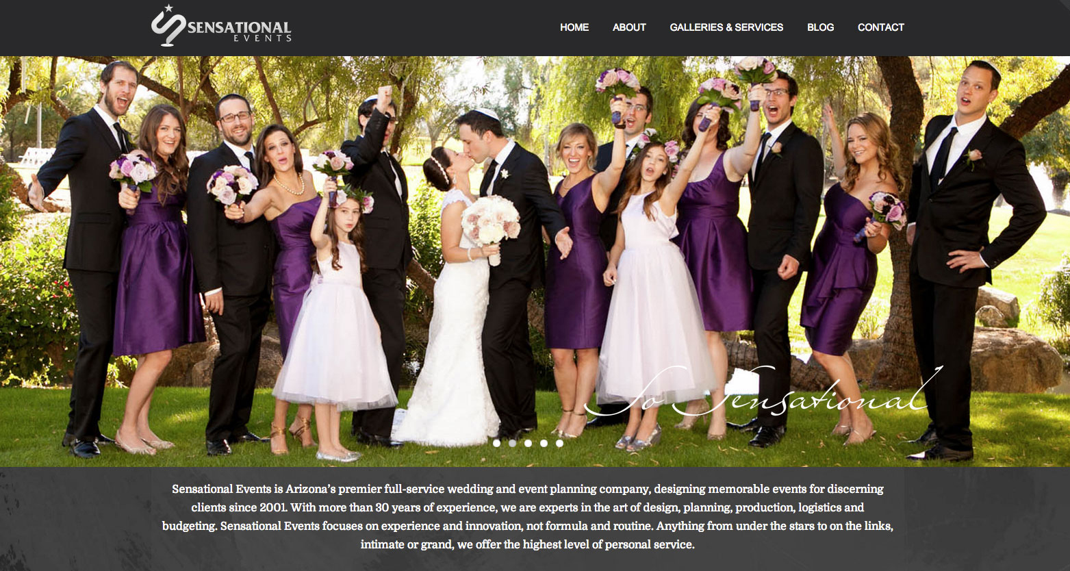 Sensational events celebrates th anniversary with new website
