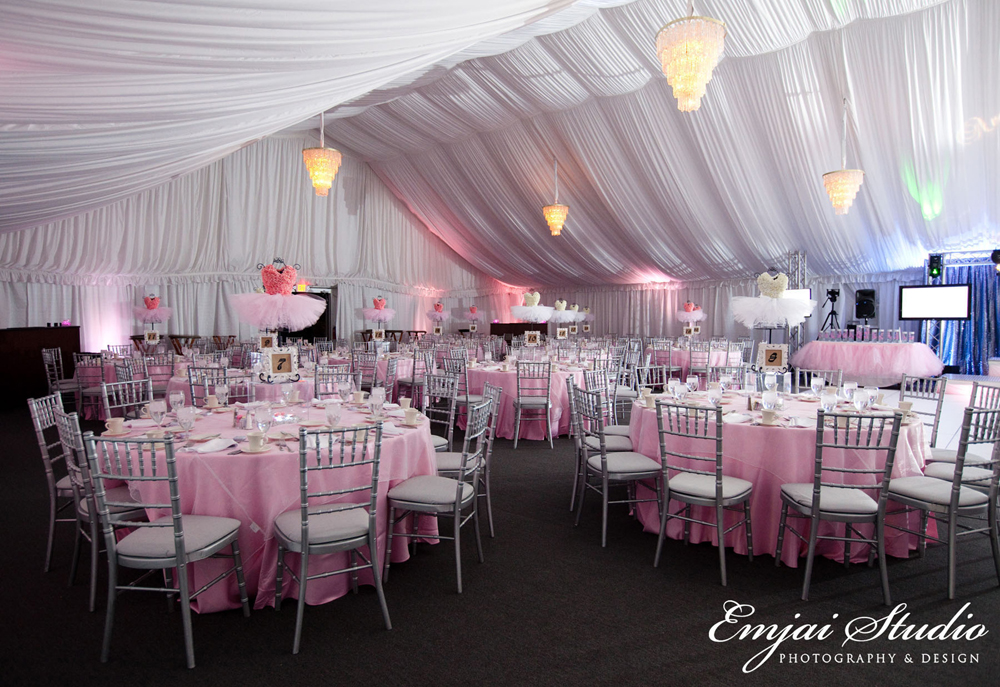 Ballet Pink Table Setup